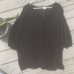 We The Free, Free People pirate style black long t
